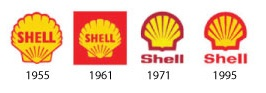 Shell logos 1955-95