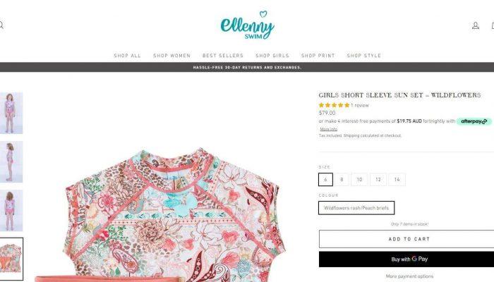 Ellenny Swim shopify