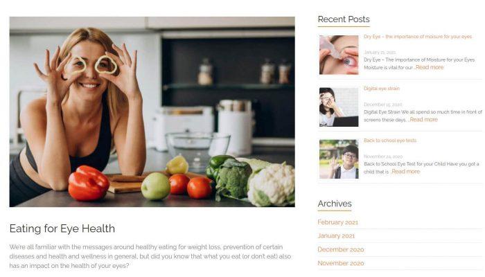 Eyecare Plus Springvale website