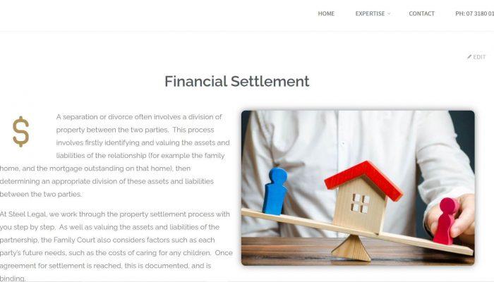 Steel Legal website